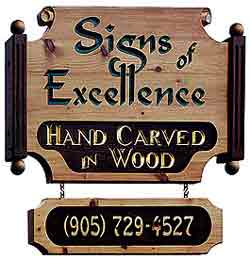 """Signs of Excellence"" sign"